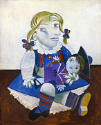 Pablo Prints - Picasso: Maya With Doll Print by Granger