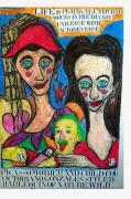 Elegant Pastels Originals - Picasso Mother And Child For Victoriano Gonzales Styled Harlequin Of Nature Wild by Francesco Martin