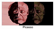Glass Wall Digital Art - Picasso  Now and Then by Mark Moore