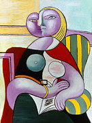 Cubist Art - Picasso: Reading, 1932 by Granger