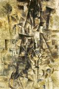 Pablo Picasso Prints - Picasso: The Accordionist Print by Granger