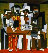 Cubist Framed Prints - Picasso: Three Musicians Framed Print by Granger