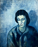 Bangs Prints - Picasso: Woman, 1902 Print by Granger