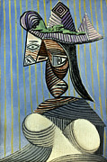 Pablo Framed Prints - Picasso: Woman/hat, 1939 Framed Print by Granger