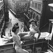 Mid Adult Women Posters - Piccadilly Beauties Poster by Bert Hardy