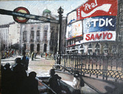 Transport Paintings - Piccadilly Circus London. by Paul Mitchell