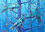 Crows Paintings - Pick Me ..... Theyre Crazy by Ana Maria Edulescu