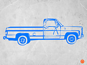 American Car Posters - Pick up Truck Poster by Irina  March