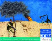 Act Painting Posters - Pickens Plan to Reduce Foreign Energy Dependency Poster by Andrew  Broadbent