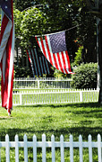 Anahi Decanio Digital Art - Picket Fence Americana by Anahi DeCanio