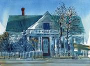 Picket Fence Prints - Picket Fence Print by Donald Maier