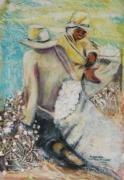 Harper Mixed Media - Pickin  Cotton by Amos Harper
