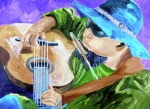 Guitar Player Painting Originals - Pickin N Harmony by Michael Lee