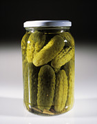 Sour Prints - Pickled Gherkins Print by Tek Image