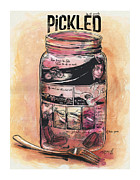 Biking Drawings Posters - Pickled Poster by Nik Garvoille
