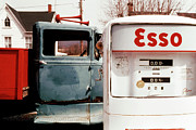 Transportation Glass Originals - Pickup an Esso by Jan Faul