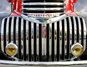 Motor Vehicles Framed Prints - Pickup Chevrolet front view. Miami Framed Print by Juan Carlos Ferro Duque