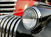 Oldtimers Prints - Pickup Chevrolet headlight. Miami Print by Juan Carlos Ferro Duque