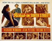 Lobbycard Photo Framed Prints - Pickup On South Street, Jean Peters Framed Print by Everett