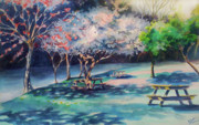 West Fork Painting Prints - Picnic Area Print by Julie Morrison
