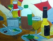 Beer Mixed Media - Picnic by Julie Butterworth