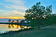 Amazing Sunset Prints - Picnic Lake Print by Robert Harmon