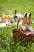 Picnic Basket Prints - Picnic Print by Michael Gogin