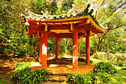 Your Home Framed Prints - Picnic Pagoda Framed Print by Cheryl Young