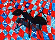 Ant Paintings - Picnic Pest by Miriam Schulman