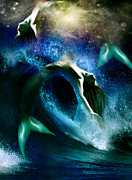 Pisces Digital Art - Picses by Julie L Hoddinott