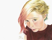 Self-portrait Pastels Prints - Picture Me This Print by Tess Lee miller