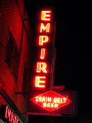 North Dakota Prints - Picture of Empire Tavern and Liquors Sign Fargo ND Print by Paul Velgos