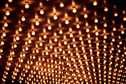 Bulbs Photos - Picture of Theater Marquee Lights by Paul Velgos