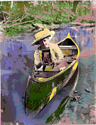 Canoe Mixed Media Prints - Picture Perfect Print by Charles Shoup