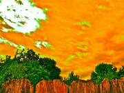 Tangerine Framed Prints - Picture Yourself Tangerine Sky Framed Print by Chuck Taylor