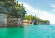 Mgp Photography Framed Prints - Pictured Rocks Framed Print by Michael Peychich