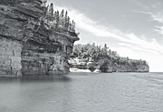 Pictured Rocks Shoreline National Park Print by Michael Peychich