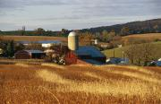 Pennsylvania Barns Photos - Picturesque Farm Photographed by Raymond Gehman