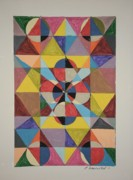 Math Paintings - Pie In Progression by Edward Wolverton