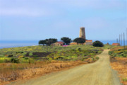 Panoramic Ocean Originals - Piedras Blancas historic Light Station - Outstanding Natural Area Central California by Christine Till