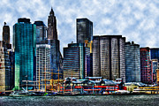 Neighborhood Prints - Pier 17 in Manhattan Print by Randy Aveille