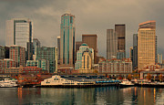 Seattle Waterfront Framed Prints - Pier 54 Framed Print by Dan Mihai