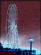 Pier Digital Art - Pier 57 Ferris Wheel by Tim Allen