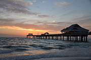 Florida Sunset Framed Prints - Pier 60 Clearwater Beach Florida Framed Print by Bill Cannon