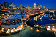Seattle Art - Pier 66 at Night by Inge Johnsson