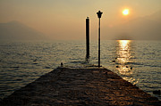 Asona Prints - Pier and sunset Print by Mats Silvan