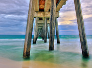Panama City Beach Digital Art Posters - Pier  Poster by Anna Rumiantseva