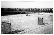 York Beach Metal Prints - Pier at Coney Island Metal Print by John Rizzuto