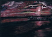 Pier Pastels - Pier at Midnight by Tonya Butcher