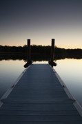Water Photography Posters - Pier at Twilight Poster by Andrew Soundarajan
